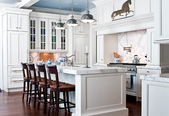white kitchen via todayskitchensny Shocking News from Nashville Home Stager: Granite Countertops Are Like Crack Cocaine