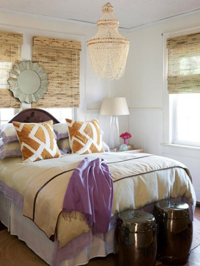 bedroom via bhg An Explicit Discussion About Lighting by The Decorologist