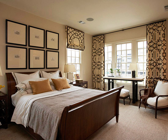 curtains hung high via bhg Nashville Decorator Reveals Design Secret for Hanging Window Treatments