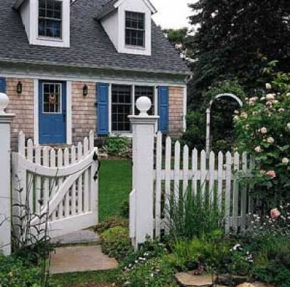 white picket fence house via america1985blogspot The Truth About Men & Decorating