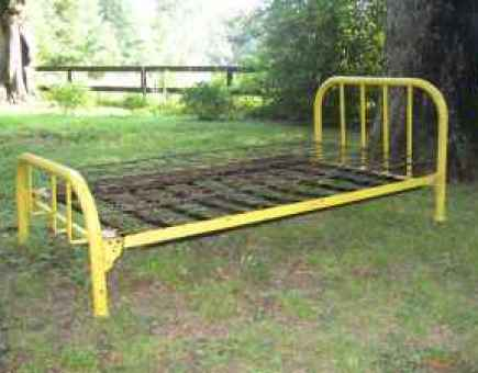 yellow iron bed via clarksville craigslist The Most Romantic Bed   No, Not a Waterbed