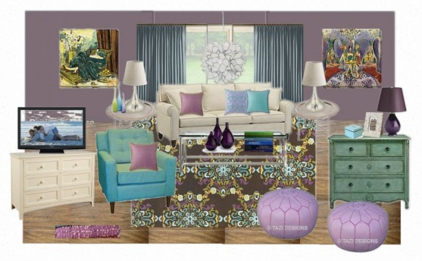 OB Sunroom Inspiration Board 1024x731 Building a Room Design Around An Inspiration Piece