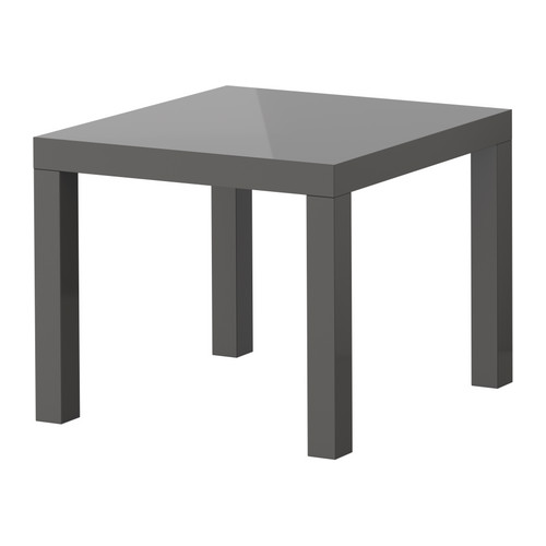 lack side table gloss gray 1299 from ikea IKEA Has Gone Gray   And Thats a Good Thing