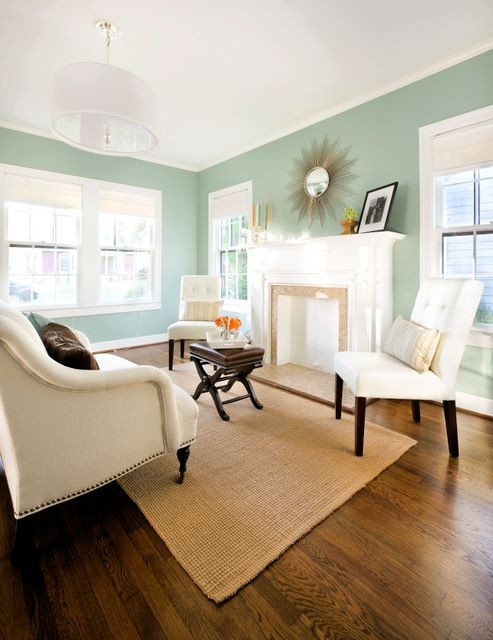 wythe blue living room via houzz Nashville Color Expert Announces 2012 Color of the Year: Wythe Blue