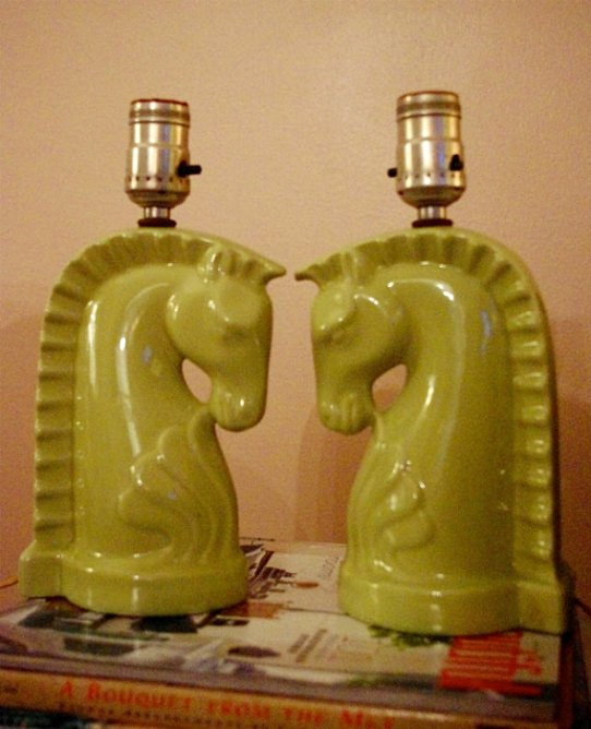 etsy horse lamps via jennycastledesign Galloping into a Home Near You   The Horse Trend