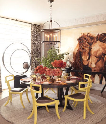 filicia showhouse dining room 1109 08gIk4 de Galloping into a Home Near You   The Horse Trend