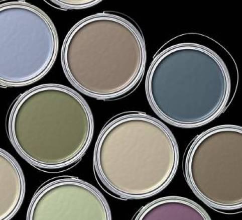 Muted MetalColoredPaintCans via donnacognac blogpost Proof That Colors Read Lighter on the Ceiling