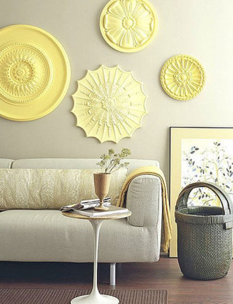 tin medallions wall decor via edecorativeceilingtiles Which Decorating Trends Are So Over   And Do You Care?