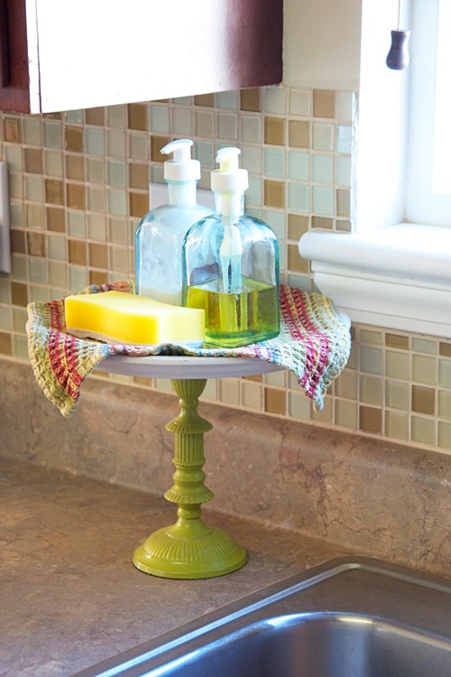 green cake stand for soaps Even a Compulsive Collector Can Be Organized