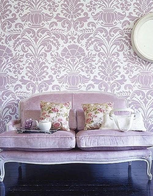 purple lavender wallpaper New Ideas for a Crappy Cedar Closet
