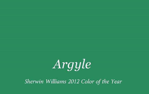 Argyle Color Sherwin Williams Color of the Year 2012 & A Color Consultants Tangent