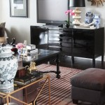 black laquer console table for tv