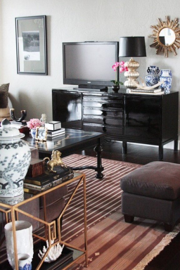 black laquer console table for tv The One Piece of Furniture You Probably Need