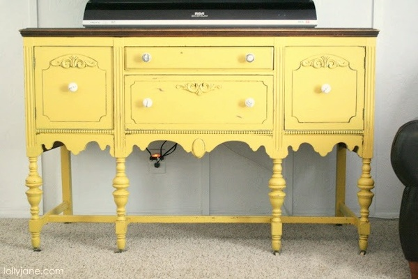yellow console The One Piece of Furniture You Probably Need