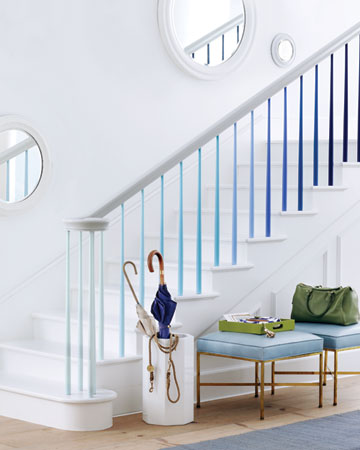 stairs via martha stewart How To Live Like Youre on Vacation All Year