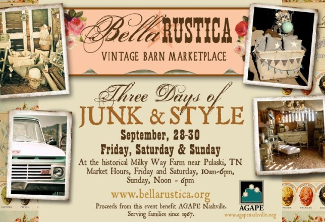 Bella Rustica Barn Marketplace 2012 & Special Guest from Funky Junk Interiors