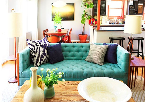 green sofa The New Neutral for Sofas