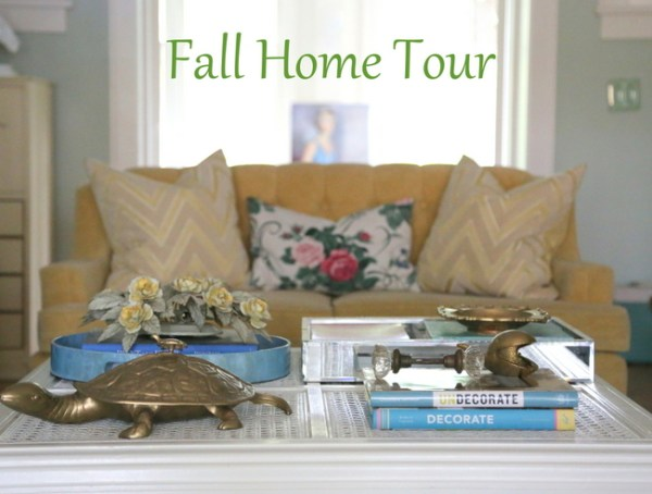 7O3A9680 600x454 I Go Kicking and Screaming   Eclectically Fall Home Tour