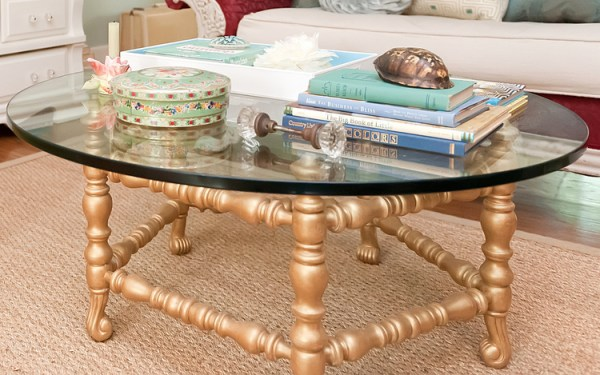 gold painted furniture