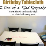 The Birthday Tablecloth: A One-of-a-Kind Keepsake