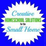 Creative homeschool solutions for the small house. #homeschooling