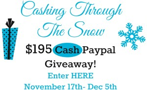 Cashing through the snow - #giveaway