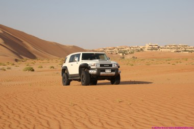 In the valley in front of the Qasr Al Sarab