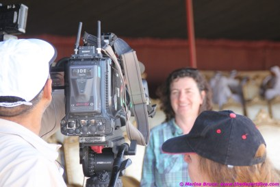 How to make the Desert Diva lost for words - stick a TV camera in front of her!