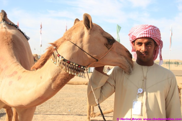 "Looks like this camel has had enough and is whispering to its handler to ""take me away from here"""