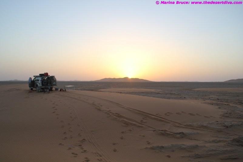 sunset rub al khali