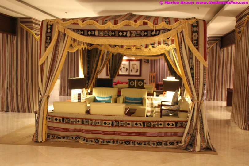 Majlis style tent in the foyer