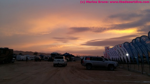 Sunset over the bivouac