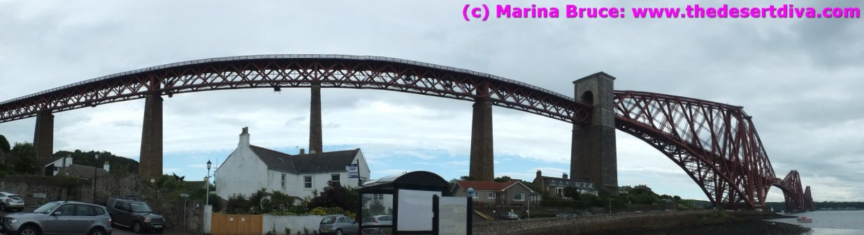 The iconic Forth Rail Bridge from North Queensferry