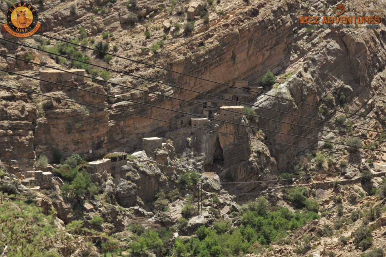 Old village built into the rock