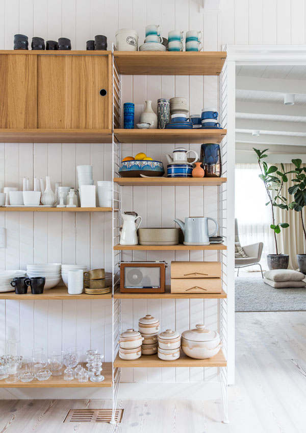 Open Kitchen Shelves Using Our Collector S Shelving System With Simone And Rhys Haag - The Design Files | Australia's Most