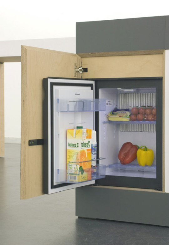 Modular Kitchen Design With Fridge 'small Type' Kitchen For Compact Living By German Designers.