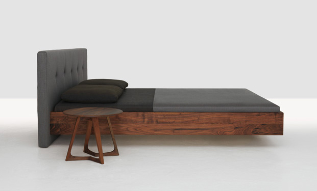 Simple Button Bed By Zeitraum Mobel