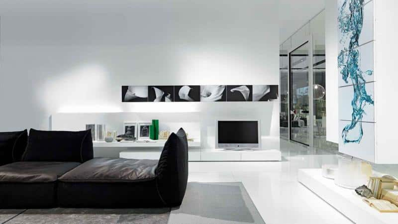 Modern White Wall Shelf 50 Modern Living Room Furniture Design Pictures By Presotto