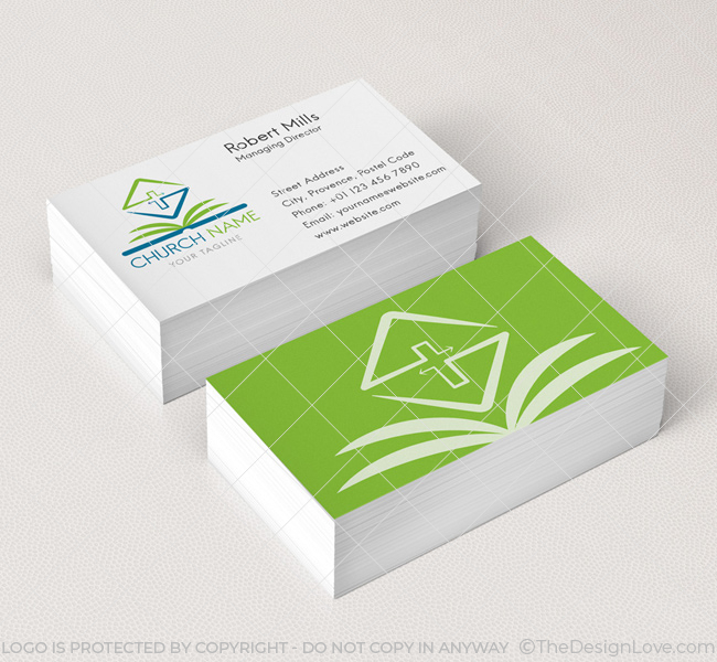 Bible Logo  Business Card Template - The Design Love
