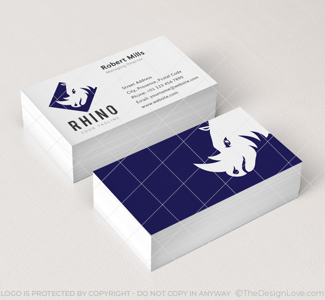 Rhino Logo  Business Card Template - The Design Love - Buisness Card Template