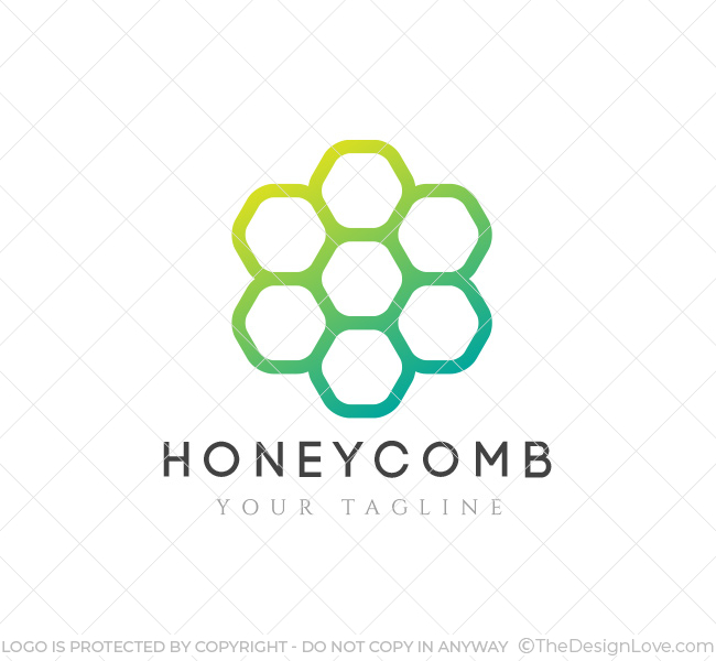 Honeycomb Logo  Business Card Template - The Design Love - text logo template