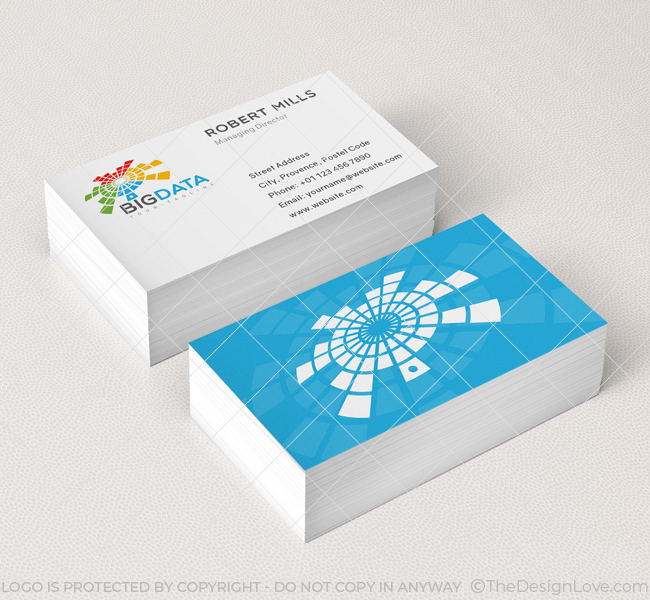 Big Data Logo  Business Card Template - The Design Love