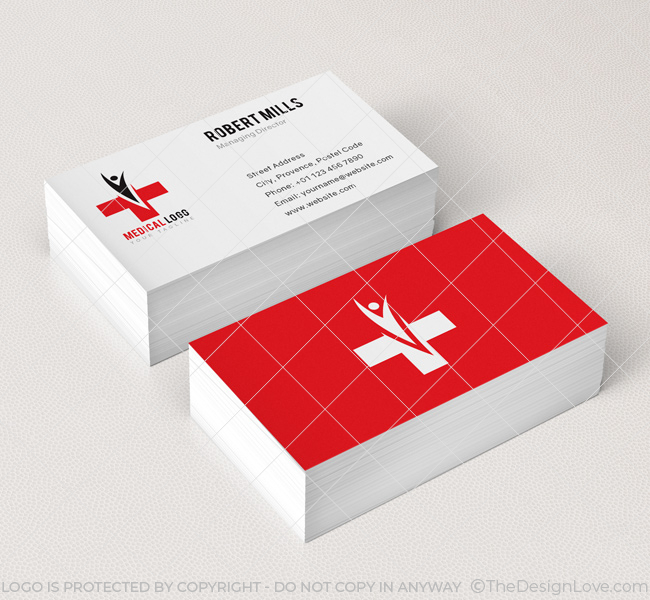 Medical Logo  Business Card Template - The Design Love - medical business card templates