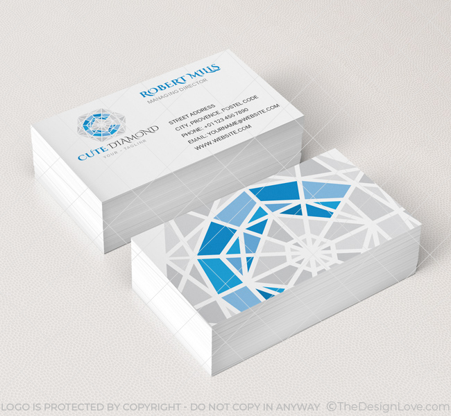 Diamond Logo  Business Card Template - The Design Love