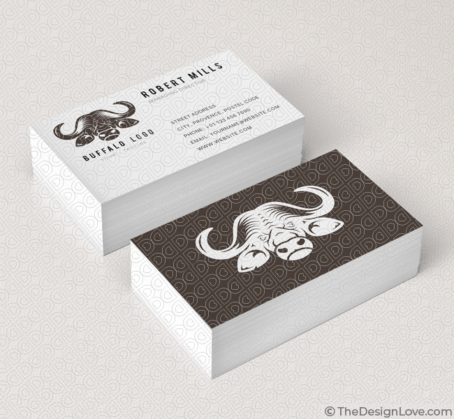 Buffalo Logo  Business Card Template - The Design Love - Buisness Card Template