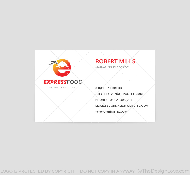 Express Food Delivery Logo  Business Card Template - The Design Love