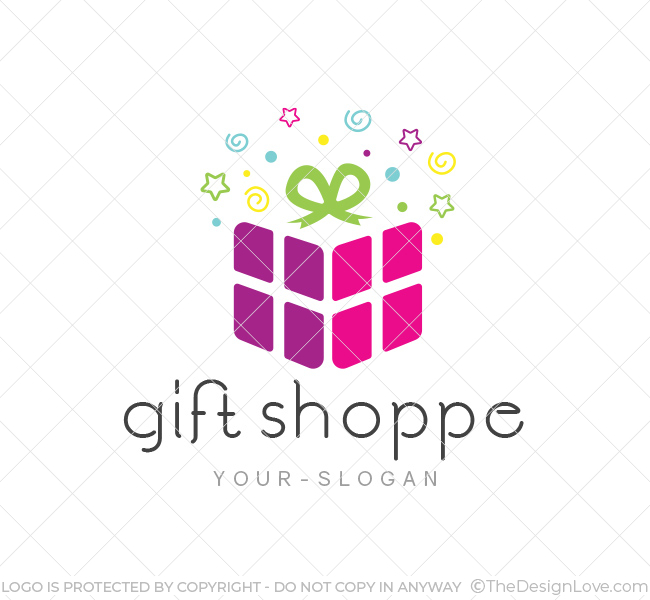 Gift Shop Logo  Business Card Template - The Design Love