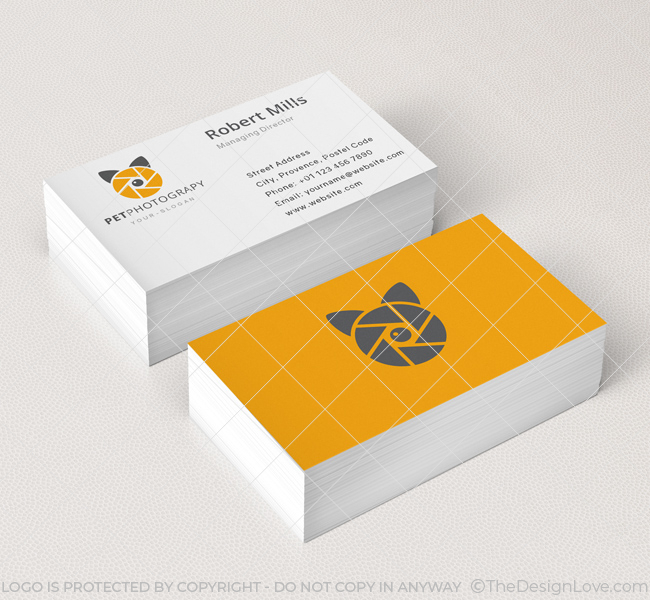 Pet Photographer Logo  Business Card Template - The Design Love