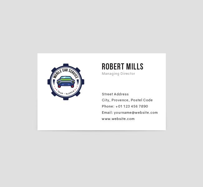 Mobile Car Service Logo  Business Card Template - The Design Love