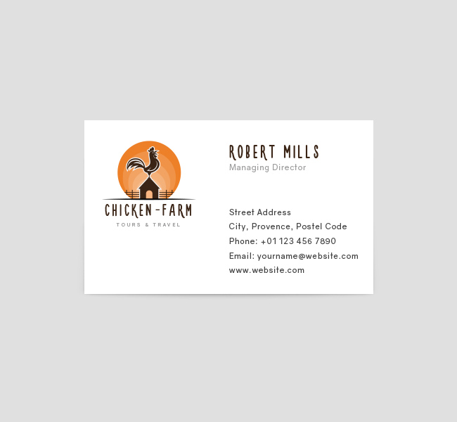 Chicken Farm Logo  Business Card Template - The Design Love - Buisness Card Template